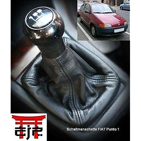 Aerzetix Dehnfalte Hebel Geschwindigkeit Kunstleder Hellgrau Schwarz Für Seat Ibiza 93 99 2 Auto
