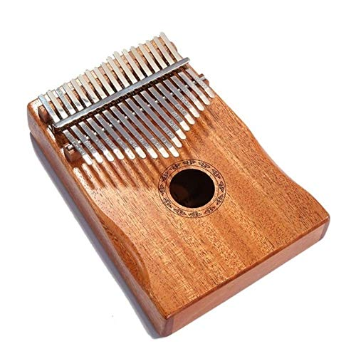 Kalimba, Daumenklavier 17 Keys Kalimba Mahagoni Daumen Finger Piano Sanza Massivholz Thumb Kalimba Mbira Musikinstrumente (Color : Wood color)