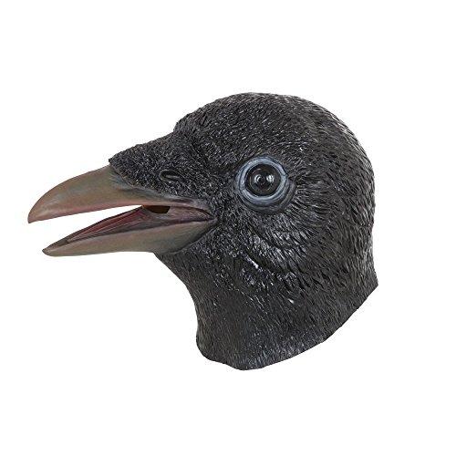 Bristol Novelty- Máscara de Cuervo, Color Negro, Talla ú