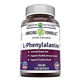 Amazing Nutrition Amazing Formulas L-Phenylalanine Dietary Supplement - 500 mg - 120 Capsules (Non-GMO, Gluten Free) - Supports Healthy Nervous System - Promotes Positive Mood