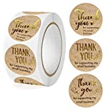 Thank You for Supporting My Small Business Stickers,1 inch 500Pcs Thank You Stickers Roll | Round Seal Stickers for Packing Bags,Envelope,Bouquet,Gift | Business Stickers for Crafters & Online Sales,