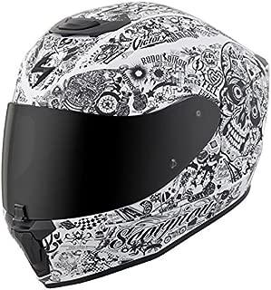 Scorpion EXO-R420 Full-Face Helmet Shake White Large (More Size Options)