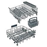 Bosch Siemens 00712900 712900 - Set di cestini per lavastoviglie: Cestino superiore, cestino inferiore, cestino per posate