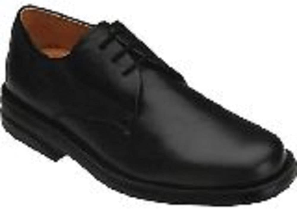 Sequoia Mens Black Leather Dane Orthopedic Depth Comfort Oxford Shoe,
