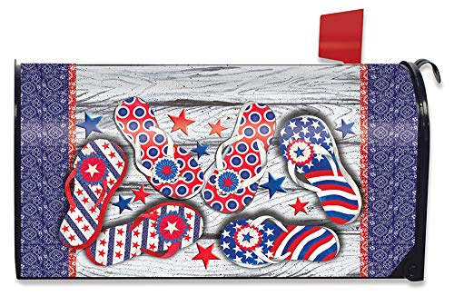 Freedom Flip-Flops Briefkastenabdeckung, magnetisch, patriotischer Standard