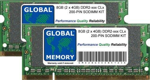 8GB (2 x 4GB) DDR2 667/800MHz 200-PIN SODIMM Memoria RAM Kit para Ordenador PORTÁTILES/NOTEBOOKS
