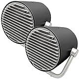 PEARL Tisch-Ventilator USB: 2er-Set Mini-USB-Tischventilatoren im Turbinen-Design, Doppelrotor (Ventilator für unterwegs)