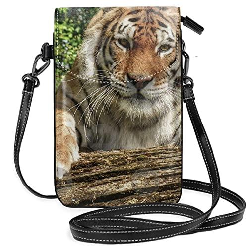 Tiger - Cartera ligera pequeña para teléfono celular, para mujeres y niñas, con práctico transporte