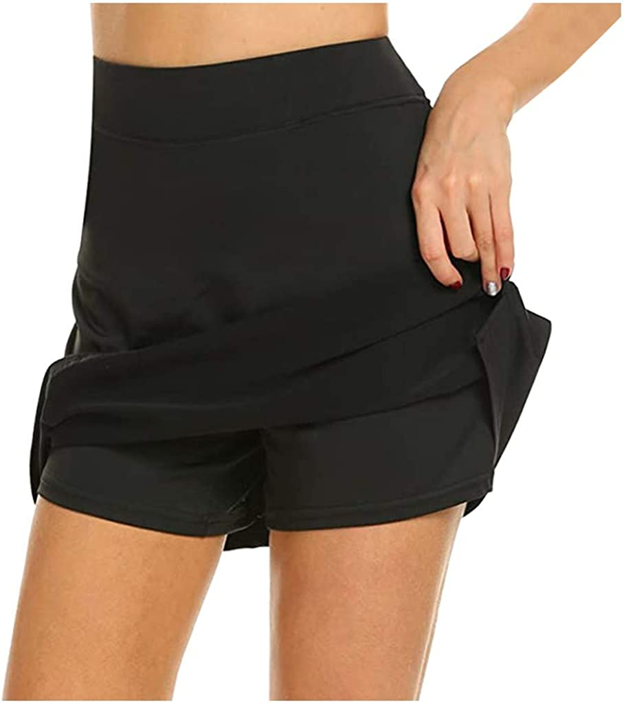 Yoga Shorts for Women Sexy,Plus Size High Waist Yoga Dresses Workout Running Athletic Non See-Through Yoga Pants
