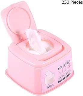 250ピース/ボックスフェイスメイクリムーバーパッドメイクアップコットンワイプディープフェイシャルアイクレンジングスキンケアフェイスウォッシュ化粧品ツール (Color : Pink, サイズ : 11.5*11.5*7cm)