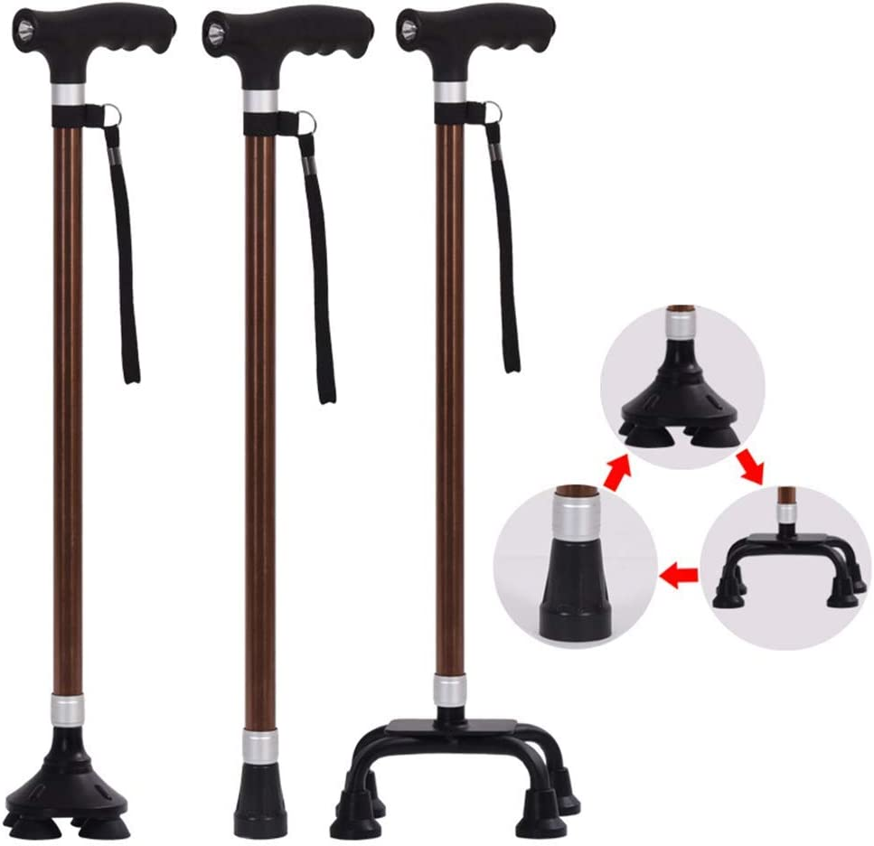 YWYW Foldable Walking Shipping included Stick Height Adjustable Crutch Telescopic Financial sales sale