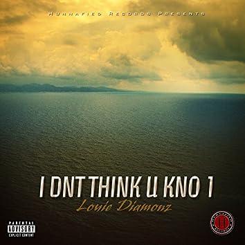 I Dnt Think U Kno 1 - Single