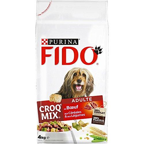 FIDO - Adulte au Bœuf, aux Céréales et aux Légumes - 4kg - Croquettes pour Chiens - Lot de 4