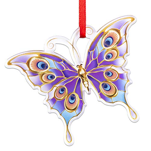 WaaHome Butterfly Christmas Ornaments 2020 Keepsake Christmas Tree Ornaments Christmas Tree Decorations
