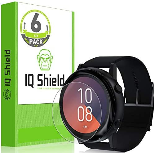 IQ Shield Screen Protector Compatible with Samsung Galaxy Watch Active (Galaxy Watch Active2 40mm) (6-Pack) Anti-Bubble Clear Film