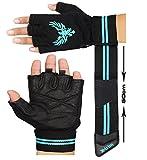 Xtrim Leather Gym Workout Gloves For Men- Black ( M / L / XL )