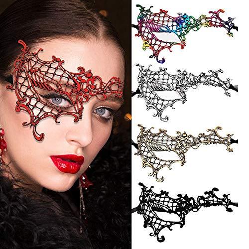 Yongbest Masken Venezianische,5 Stück Venezianische Maskerade Spitze Augenmask für Frauen Chirismas Halloween Party Masquerade Ball Kostüm 5 Farben