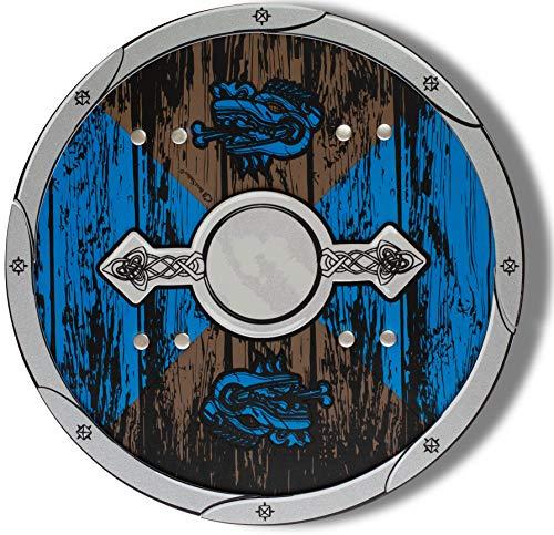 BestSaller 5015 \'Softline EVA Premium\' Ritter Schild \'Wikinger\', blau/braun (1 Stück)