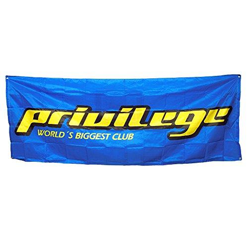 Privilege Ibiza: Bandera Enorme Azul con Logo
