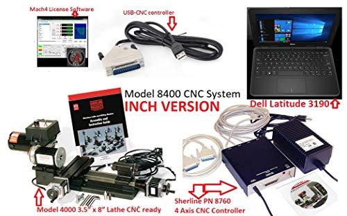Great Price! Sherline 8400 Windows 3.5″ x 8″ Lathe CNC System +USB Controller + Dell Latitude La...