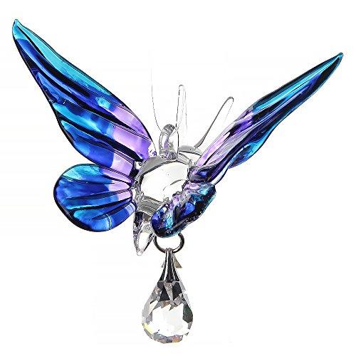 Fantasy Glass Suncatcher Glasfigur, Schmetterling von Wild Things violett