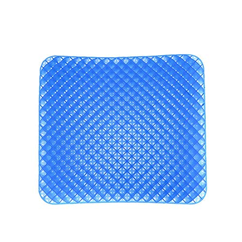 YLiansong-home Seat Cushion Chair Cushion Gel Seat Cushioning and Breathable Suitable for Office Chair Driver Car Seat Cushion Washable Lid (Color : Blue, Size : 40X36CM)