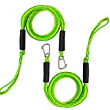 Bungee Dock Line with Hook , Green Mooring Rope for Boat 4 ft 2 Pack & Green