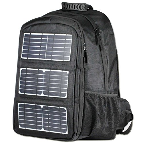 Hiking Frame Backpack Pack with 10W Solar Charger 2L Water Bladder