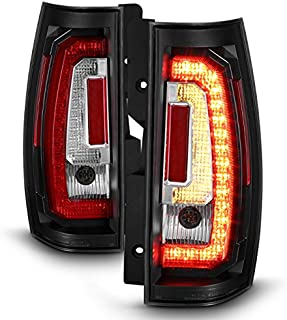 Black//Smoked *TRON LED BAR* 3D Red-C Neon Tail Light Brake Lamp for 94-02 Ram