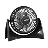 CAMTOP Desk USB Fan with 2 Speed 5 Inches Small Quiet Table Personal Fan for Home and Office