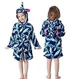 Kapuzenkinder Bademäntel Kinder Star Regenbogen Bademantel Tier Für Jungen Mädchen Pyjamas Nachthemd Kinder Nachtwäsche-Feather-3-11