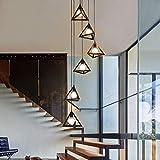 Luminaire suspendu, lustre vintage en escalier en fer forgé, lustre long d'escalier...