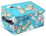 CAPRILO Caja de Zapatos Decorativa con Kit de Limpieza. Cuidado del Calzado. Menaje de Hogar. Regalos Originales. 15.5 x 25.5 x 16 cm.