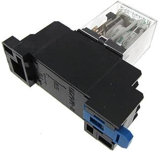 12VDC Coil JQX-13F Power Relay w/ socket LED indicator Din Rail Mounting