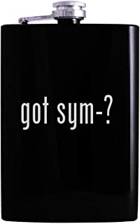 got sym-? - 8oz Hip Alcohol Drinking Flask, Black