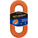 Epicord 16/3 Outdoor Extension Cord Heavy Duty Extension Cord 3 Conductor (100Feet)
