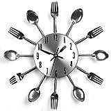 Edelstahl Küchenutensilien Uhr für Küche Déco Indoor und Outdoor