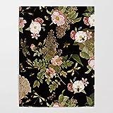 Pintura decoración cuadro lienzo Impresiones Lienzo Cuadros flores rosas arte de la pared hojas verdes pinturas libélula cartel impreso aestheti lienzo decoración del hogar para el dormitorio-50x70cm