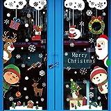 Yuson Girl Natale Vetrofanie Rimovibile Adesivi murali di Natale Adesivi murali di Babbo Natale Regali per la Fai da te finestra Articoli per la celebrazione Adesivi per cartoni animati Murales
