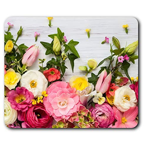 Comfortable Mouse Mat - Pretty Flowers Florist Floral Arranging 23.5 x 19.6 cm (9.3 x 7.7 inches) for Computer & Laptop, Office, Gift, Non-Slip Base - RM8743