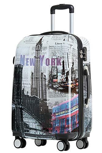 BEIBYE Reisekoffer Hartschalen Hardcase Trolley Zahlenschloss Polycarbonat SET--XL-L--M-- Beutycase (New York, XL)