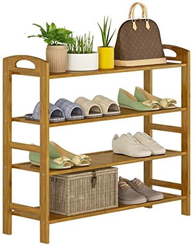 ZouYongKang Tallera de Zapato de 4 Niveles, Zapato de bambú de Almacenamiento de Zapatos de Almacenamiento de Zapatos, Estante, Capa, Capa de Polvo Natural, Zapato, Espacio, Espacio, Ahorro, Interior