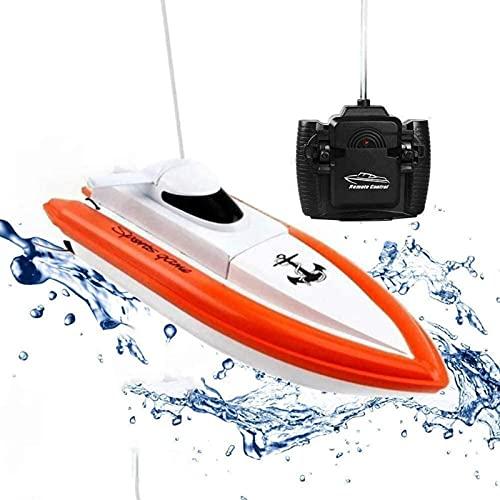 Barca del telecomando elettrico ad alta velocità / barca di controllo remoto Fast RC Racing Boat Rc per laghi / ad alta velocità Elettrico RC Regalo per barche per Bambino
