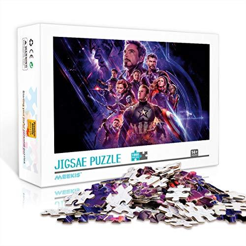 YITUOMO 1000 Teile Schwieriges Puzzle für Erwachsene Teenager Avengers Endgame Klassisches Puzzle Familienpuzzles Lernspiele für Kinder Erwachsene 38x26cm