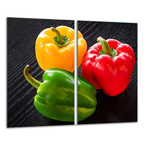 TMK 2 placas protectoras de cocina de 2 piezas de 2 x 30 x 52 cm para cubrir la vitrocerámica de cocina eléctrica de inducción, protección contra salpicaduras, tabla de cortar