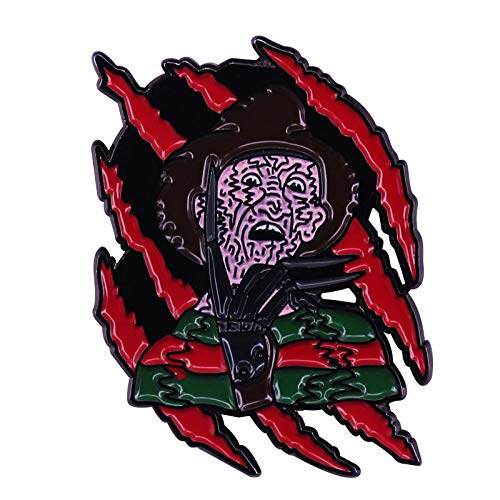 wangk Pesadilla en ELM Street Freddy Krueger Horror 80s Slasher Esamel Pin Brooch
