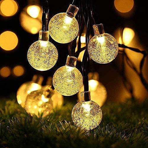 LEDGLE Luces de Burbuja de Hadas LED impermeable luz de Bola de Cristal con 8 modos iluminación, 30 luces LED, Blanco cálido