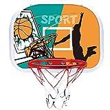 ZZLYY Panier De Basket Enfant, Cerceau De Basketball De Trampoline avec des Ballons De Basket Matériaux Doux, Coffre-Fort pour Les Enfants Durables pour Le Jeu Extérieur,46 * 32cm
