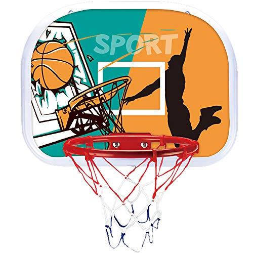 ZZLYY Canasta Baloncesto Infantil, Aro De Baloncesto De Trampolín con Material De Baloncesto Material Suave, Seguro para Niños Durable para Juegos Al Aire Libre,34 * 25cm