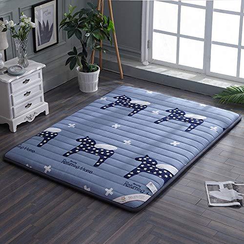 CYQ Tatami thick cotton mattress, Japanese Futon, Floor mattress, Breathable soft folding Tatami, Night Tatami D 150x200 cm (59x79 inches)